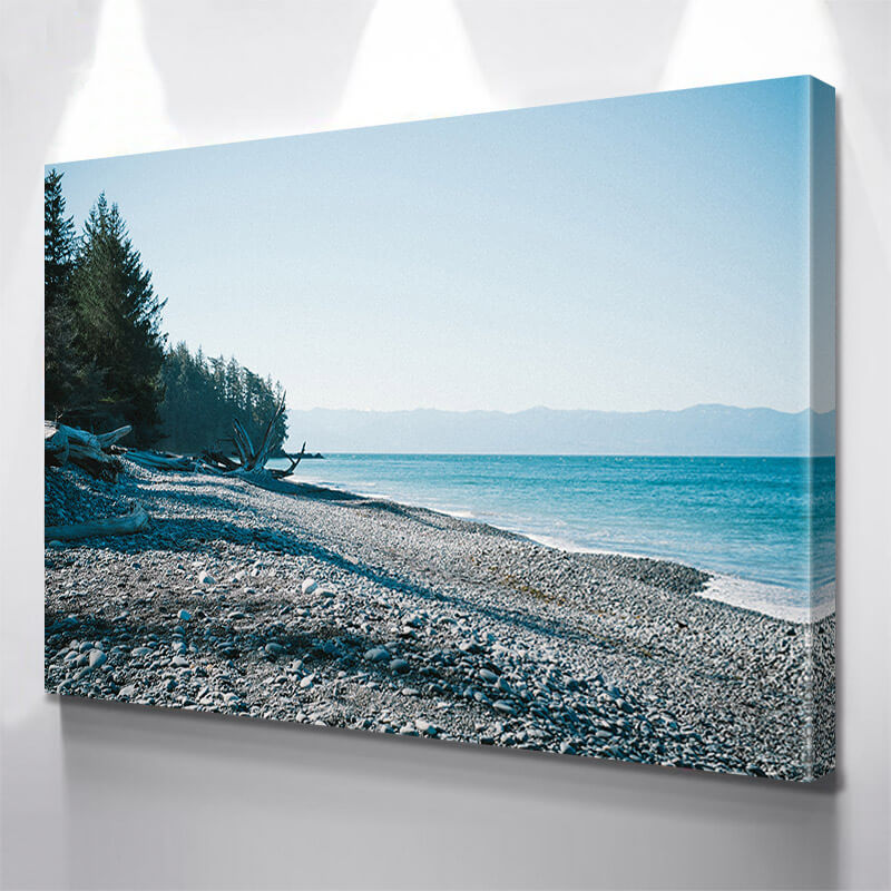 West Cost Rocky Beach Wall Art Canvas Art