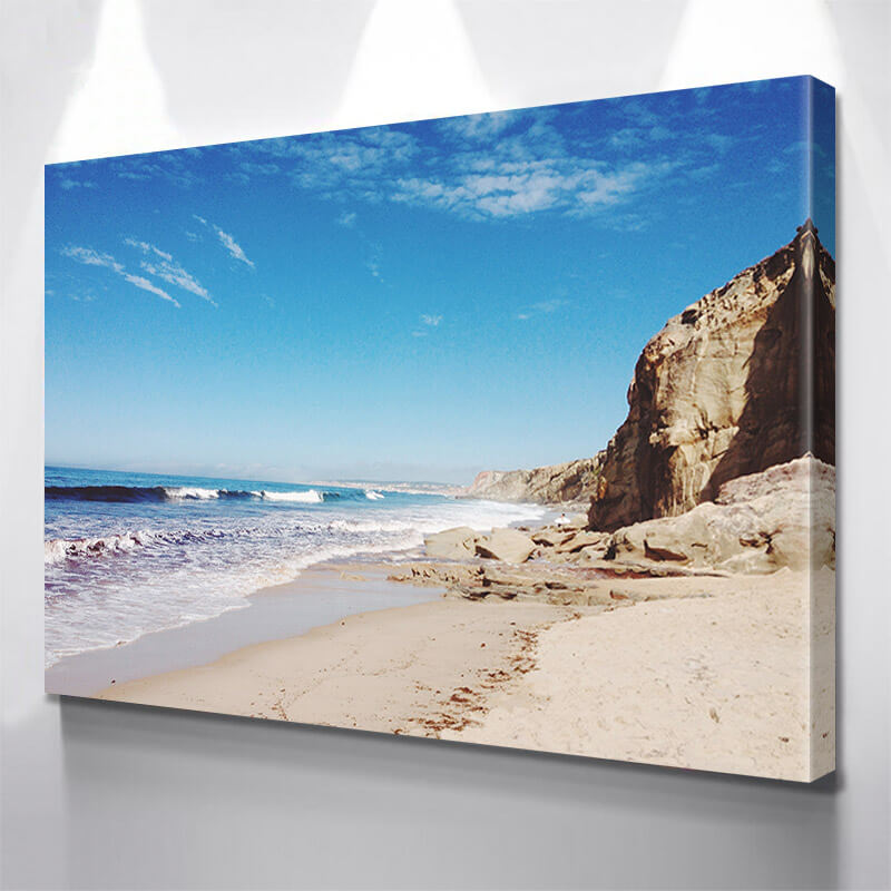 Beach Surfer Rocks Wall Art Canvas Art