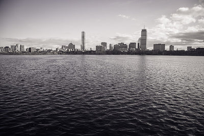 Black & White Boston Ocean View Wall Art High Quality Print Wall Art