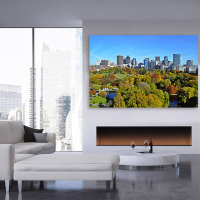 Beatiful Day Boston Park Skyline Wall Art Canvas Art