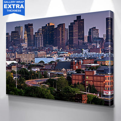 Downtown Boston Buildings Canvas Wall Art Canvas Art