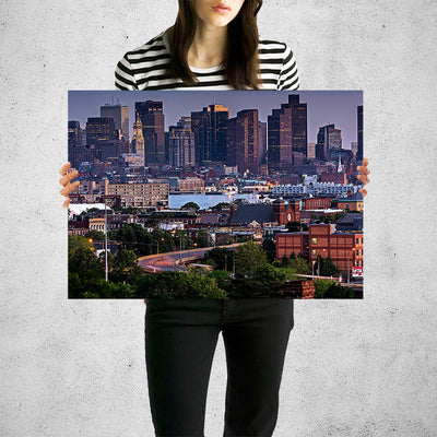 Bright Dusk Atlanta Skyline Wall Art Print High Quality Print