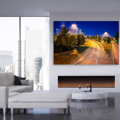 Charlotte HDR Skyline Canvas Wall Art Multi Panel Canvas Wall Art