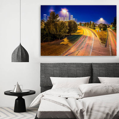 Charlotte HDR Skyline Canvas Wall Art Canvas Art