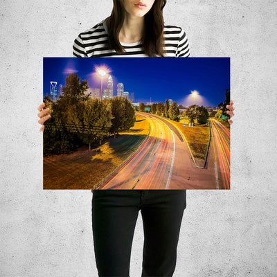 Atlanta Starry Night Skyline Wall Art Print High Quality Print