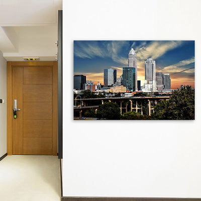 Charlotte Sunny Skyline Wall Art Canvas Art