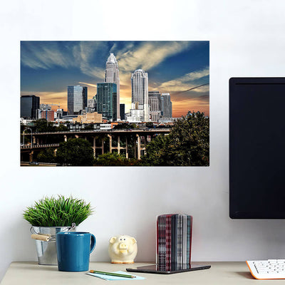 Charlotte Sunny Skyline Wall Art Wall Decal Wall Art