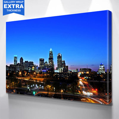 Downtown Charlotte Skyline Wall Art Canvas Art