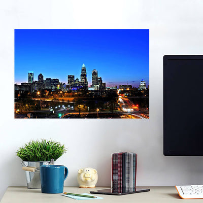 Downtown Charlotte Skyline Wall Art Wall Decal Wall Art