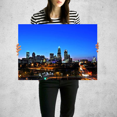 Downtown Charlotte Skyline Wall Art High Quality Print Wall Art