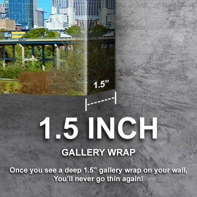 Downtown Charlotte North Carolina Panormaic Wall Art Canvas Cornors Wall Art