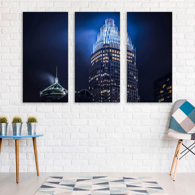 Bank of America Corporate Center Charlotte Wall Art Multi Panel Canvas Wall Art
