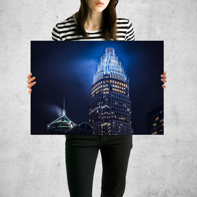 Bank of America Corporate Center Charlotte Wall Art High Quality Print Wall Art