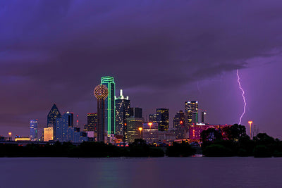 Dallas Night Time Downtown Wall Decals Wall Decals on Wall
