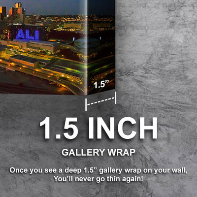 Dallas Aerial Dusk Skyline Canvas Wall Art