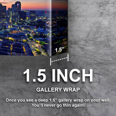 Dallas Amazing Dusk Skyline Canvas Wall Art