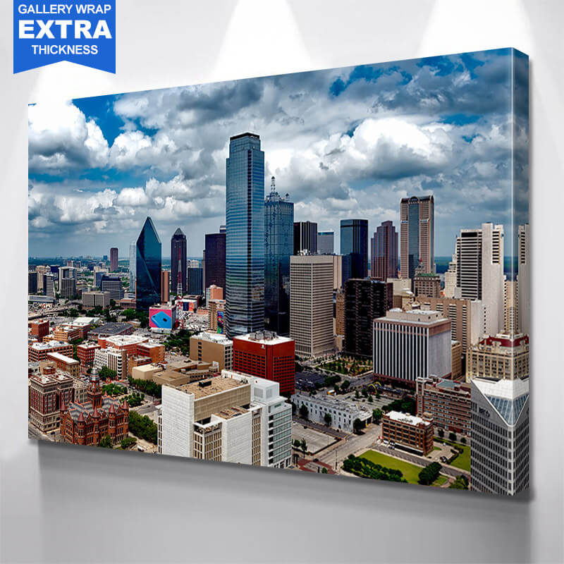 Photography Downtown Dallas Wall Art Canvas Art