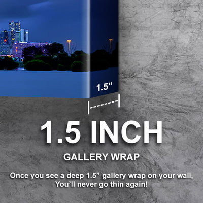 I Dallas ncredible Blue Skyline Wall Art Canvas Cornors Wall Art