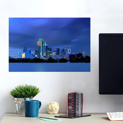 I Dallas ncredible Blue Skyline Wall Art Wall Decal Wall Art