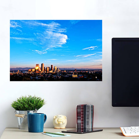 Denver Amazing Aerial Skyline Wall Art Wall Decal Wall Art