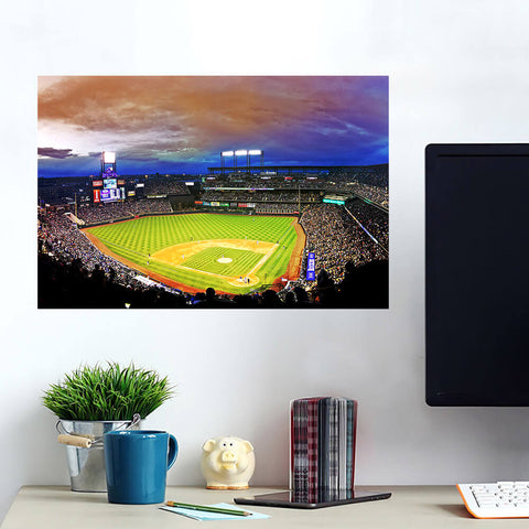 Amazing Coors Field Denver Colorado Night Game Wall Art Wall Decal Wall Art