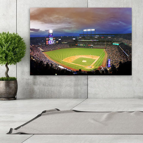 Coors Field Denver Colorado Night Game Wall Art Canvas Art