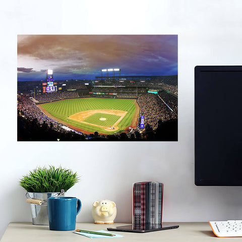 Coors Field Denver Colorado Night Game Wall Art Wall Decal Wall Art