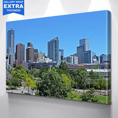 Downtown Denver Skyline Wall Art Canvas Art