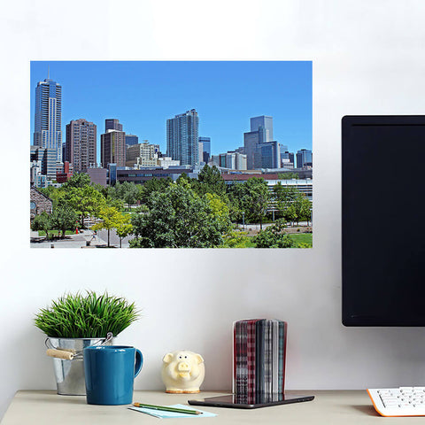 Downtown Denver Skyline Wall Art Wall Decal Wall Art