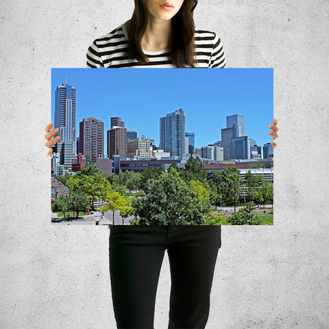 Downtown Denver Skyline Wall Art High Quality Print Wall Art