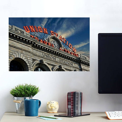 Denver Sunny Union Station Colorado Wall Art Wall Decal Wall Art