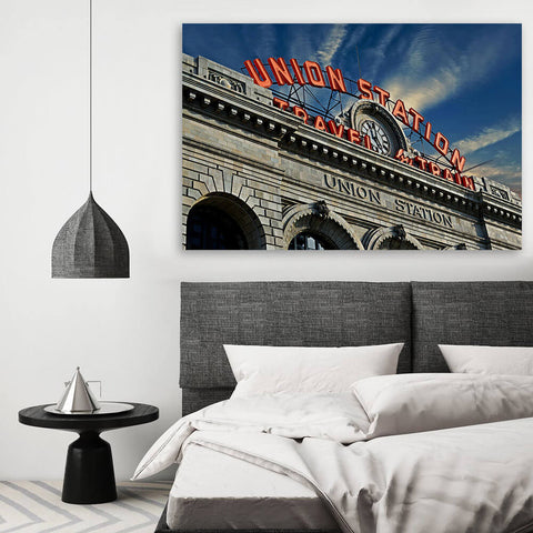 Denver Sunny Union Station Colorado Wall Art Canvas Art