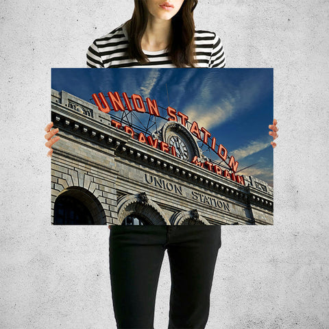 Denver Sunny Union Station Colorado Wall Art High Quality Print Wall Art