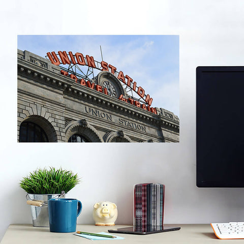 Denver Union Station Colorado Wall Art Wall Decal Wall Art