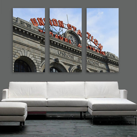 Denver Union Station Colorado Wall Art Multi Panel Canvas Wall Art