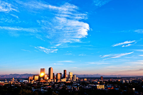 Denver Amazing Aerial Skyline Wall Art High Quality Print Wall Art