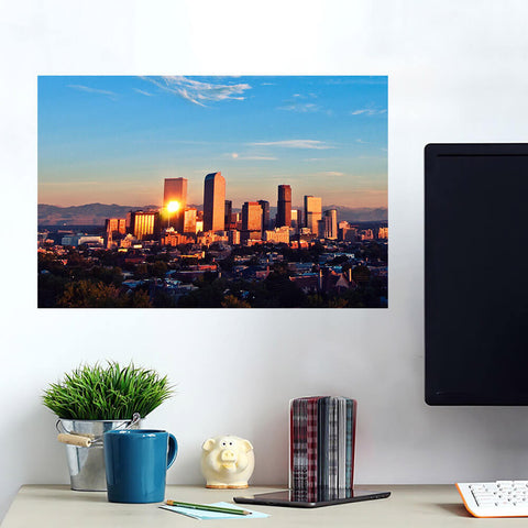 Denver Mountain Skyline Wall Art Wall Decal Wall Art