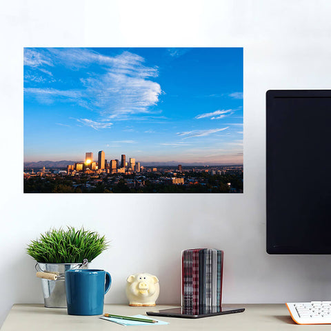 Denver Aerial Skyline Wall Art Wall Decal Wall Art