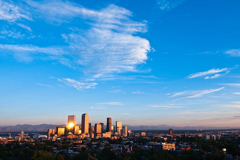 Denver Aerial Skyline Wall Art High Quality Print Wall Art