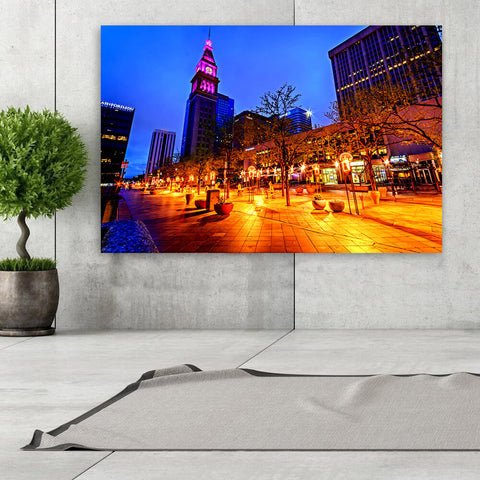 Incredible 16th Street Downtown Denver Wall Art Canvas Art