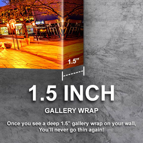 Incredible 16th Street Downtown Denver Wall Art Canvas Cornors Wall Art
