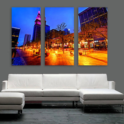 Incredible 16th Street Downtown Denver Wall Art Multi Panel Canvas Wall Art