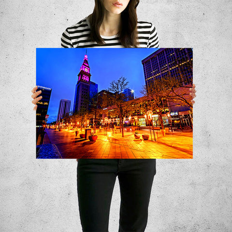 Incredible 16th Street Downtown Denver Wall Art High Quality Print Wall Art