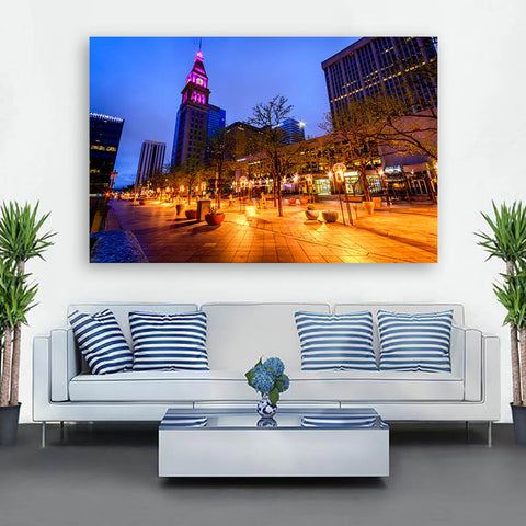 Denver 16th Street Downtown Wall Art Canvas Art