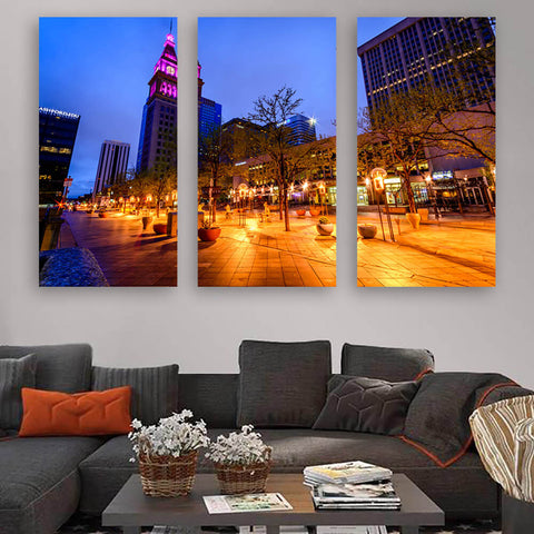Denver 16th Street Downtown Wall Art Multi Panel Canvas Wall Art