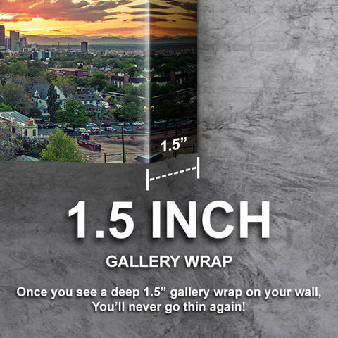 Denver Sunset Skyline Wall Art Canvas Cornors Wall Art