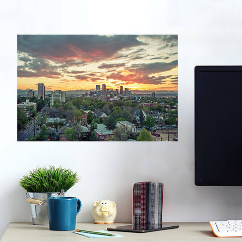 Denver Sunset Skyline Wall Art Wall Decal Wall Art