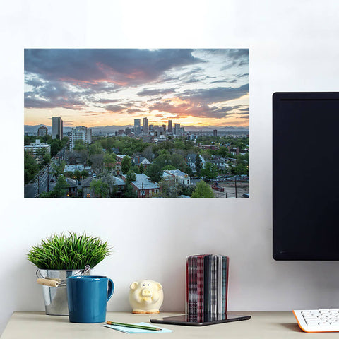 Denver Cloudy Skyline Wall Art Wall Decal Wall Art