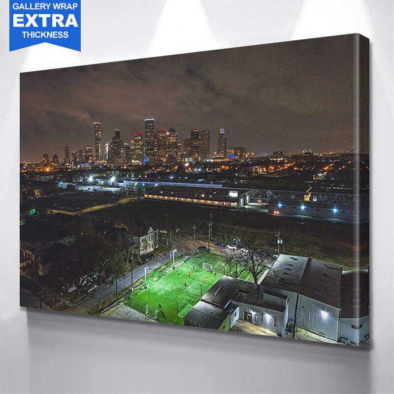 Houston Incredible Skyline Wall Art Canvas Art