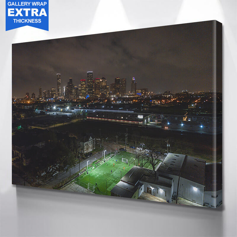 Houston Downtown Skyline Wall Art Canvas Art